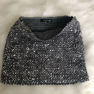 Forever 21 Sequin tube top.